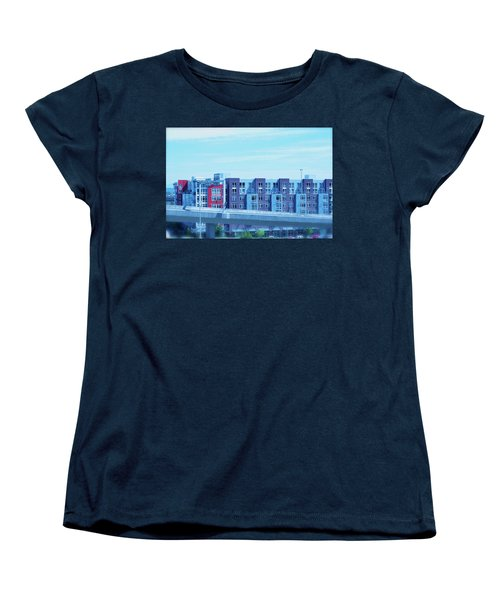 Tacoma Blues - Cityscape Art Print Women's T-Shirt (Standard Cut) by Jane Eleanor Nicholas