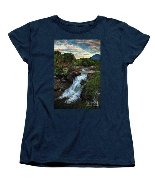 Tad Lo Waterfall, Bolaven Plateau, Champasak Province, Laos Women's T-Shirt (Standard Cut) by Sam Antonio Photography