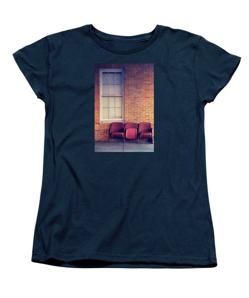Women's T-Shirt (Standard Cut) featuring the photograph Take A Seat by Trish Mistric