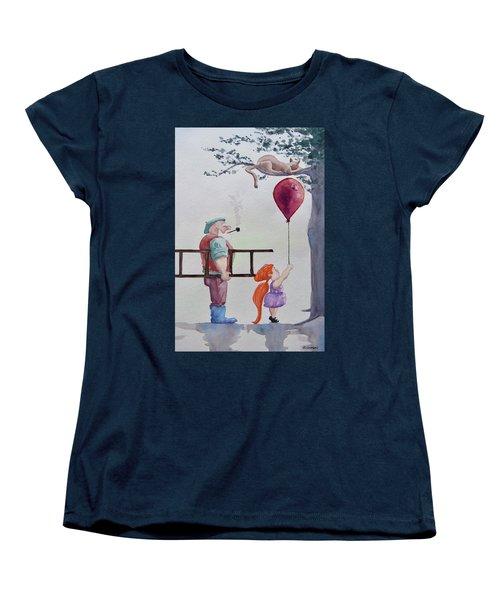 Women's T-Shirt (Standard Cut) featuring the painting Take It Please by Geni Gorani