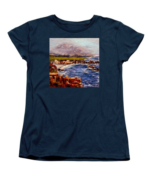 Take Me To The Ocean,, Women's T-Shirt (Standard Cut) by Cristina Mihailescu
