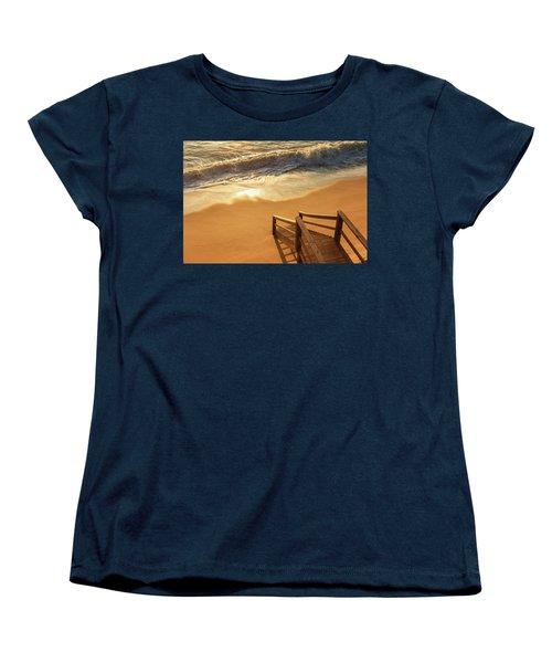 Take The Stairs To The Waves Women's T-Shirt (Standard Cut) by Joni Eskridge