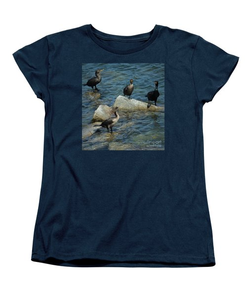 Women's T-Shirt (Standard Cut) featuring the photograph Taking A Break From The Wind by Pamela Blizzard