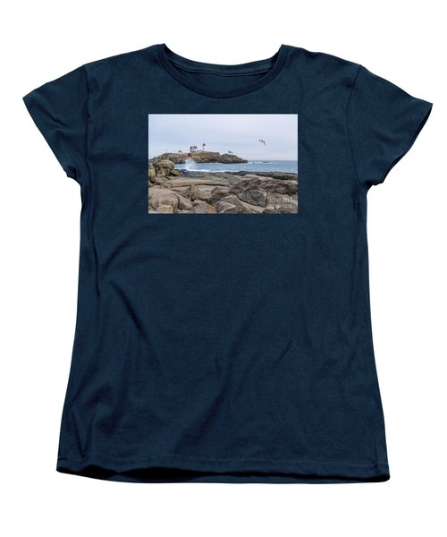 Tale Of Two Lighthouse Women's T-Shirt (Standard Cut) by Patrick Fennell