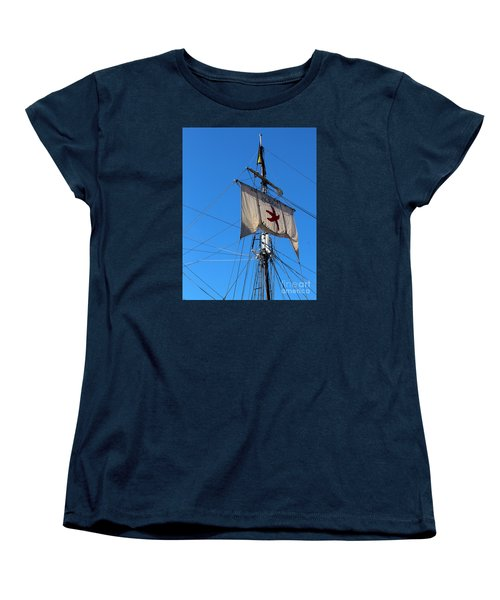 Women's T-Shirt (Standard Cut) featuring the photograph Tall Ship Mast by Cheryl Del Toro