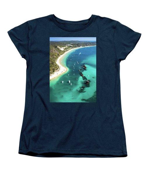 Tangalooma Wrecks Women's T-Shirt (Standard Cut) by Peta Thames