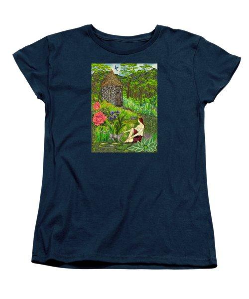 Tansel's Garden Women's T-Shirt (Standard Cut) by FT McKinstry