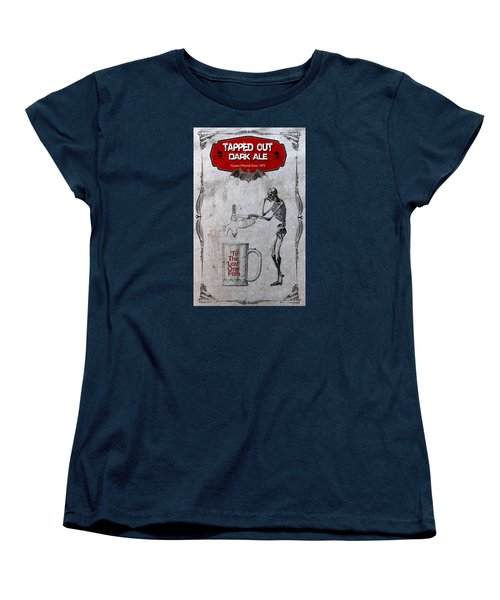 Women's T-Shirt (Standard Cut) featuring the digital art Tapped Out Ale by Greg Sharpe