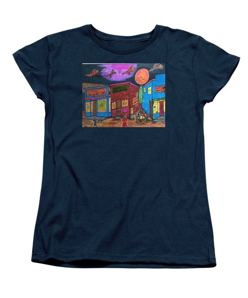 Women's T-Shirt (Standard Cut) featuring the drawing Garbell's Lunch And Confectionery by Jonathon Hansen