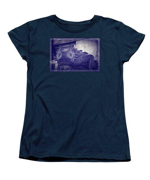 Tcu Horned Frog Purple Women's T-Shirt (Standard Cut) by Joan Carroll