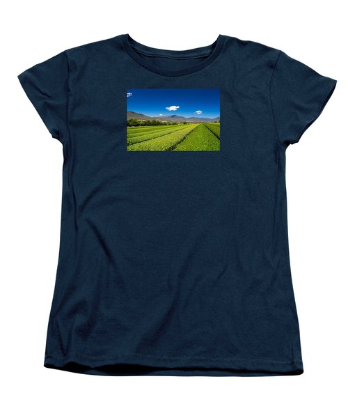 Tea In The Valley Women's T-Shirt (Standard Cut) by Mark Lucey