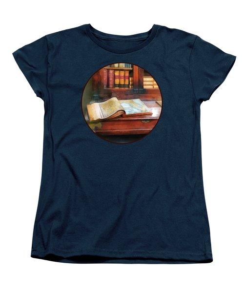 Teacher - Geography Book Women's T-Shirt (Standard Cut) by Susan Savad