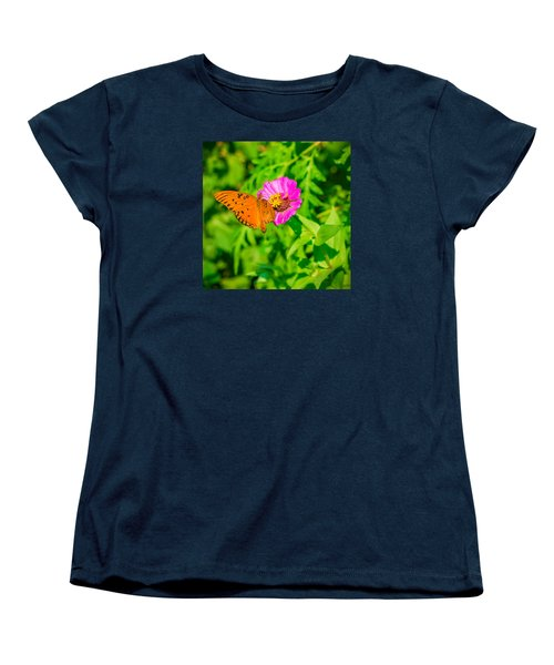 Teacup The Butterfly Women's T-Shirt (Standard Cut) by Ken Stanback