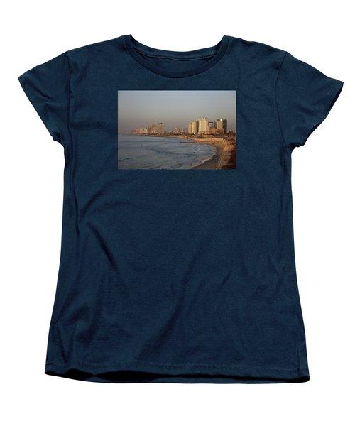 Tel Aviv Coast. Women's T-Shirt (Standard Cut) by Shlomo Zangilevitch