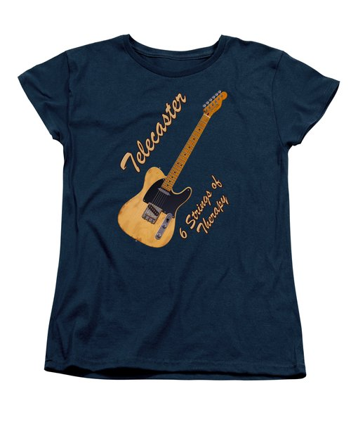 Telecaster Therapy T-shirt Women's T-Shirt (Standard Cut) by WB Johnston