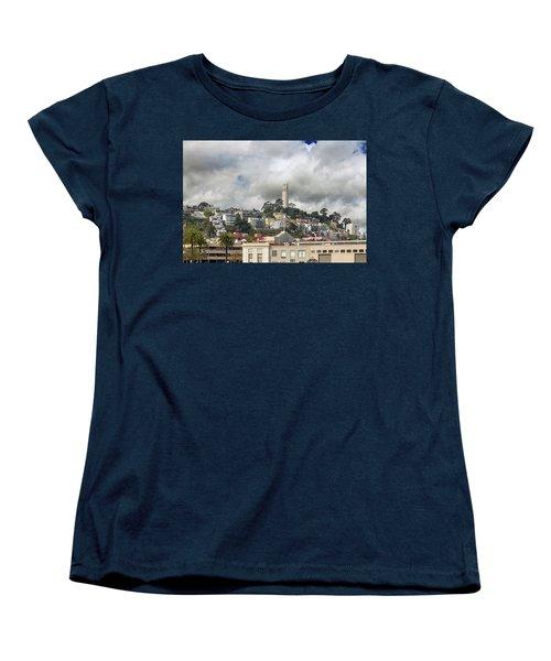 Telegraph Hill Neighborhood Homes In San Francisco Women's T-Shirt (Standard Fit)