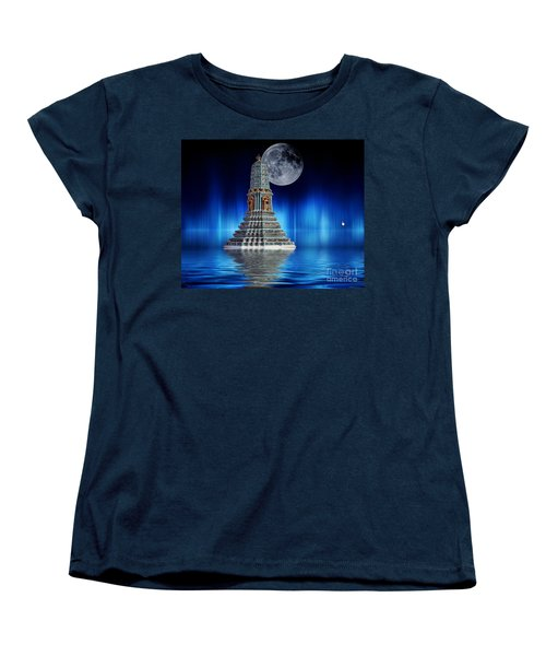 Temple Of The Moon Women's T-Shirt (Standard Cut) by Shirley Mangini