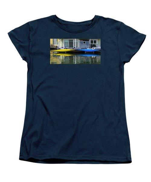 Marina Living In Victoria British Columbia 2to1 Women's T-Shirt (Standard Cut) by Ben and Raisa Gertsberg
