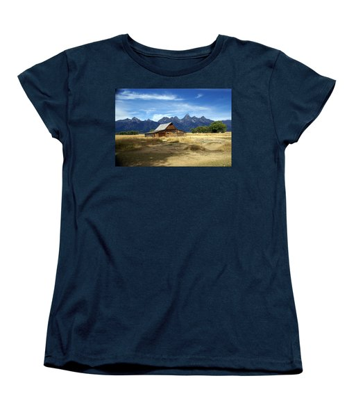 Teton Barn 3 Women's T-Shirt (Standard Cut) by Marty Koch