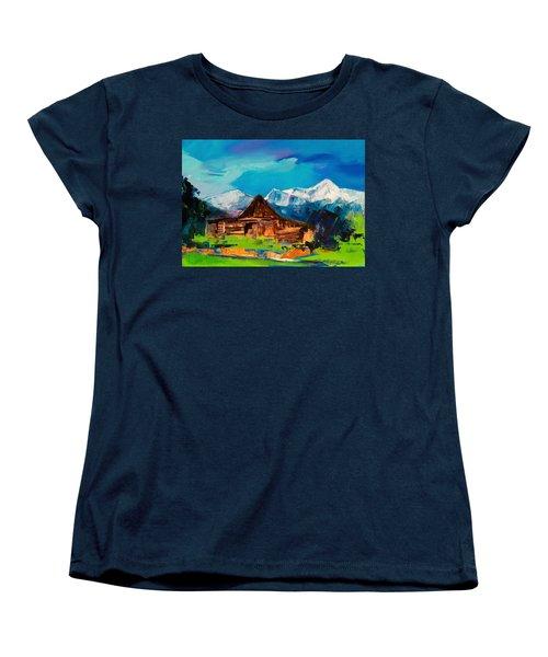 Teton Barn  Women's T-Shirt (Standard Fit)