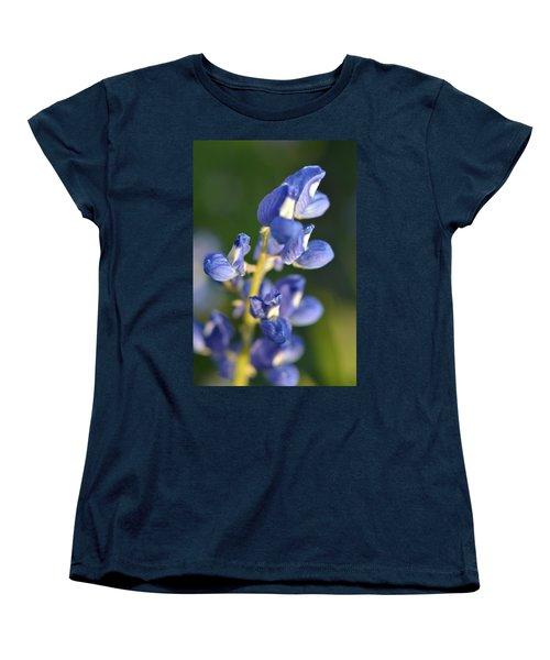 Women's T-Shirt (Standard Cut) featuring the photograph Texas Blue Bonnet Details 1 by Carolina Liechtenstein