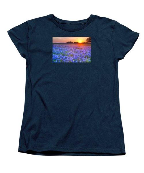Women's T-Shirt (Standard Cut) featuring the photograph Texas Bluebonnets by Keith Kapple