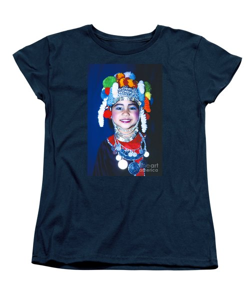 Women's T-Shirt (Standard Cut) featuring the photograph Thai Girl Traditionally Dressed by Heiko Koehrer-Wagner