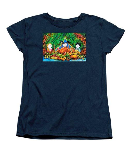 Thanksgiving Day Women's T-Shirt (Standard Cut) by Zaira Dzhaubaeva