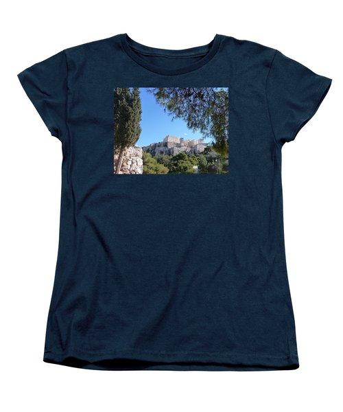 Women's T-Shirt (Standard Cut) featuring the photograph The Acropolis by Constance DRESCHER