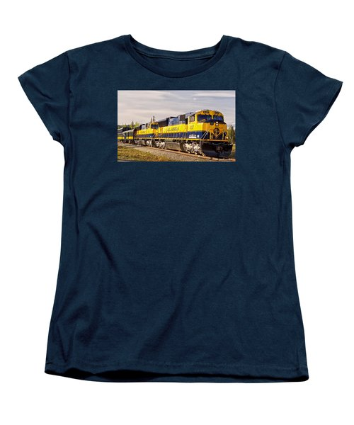 Women's T-Shirt (Standard Cut) featuring the photograph The Alaska Railroad by Michael Rogers