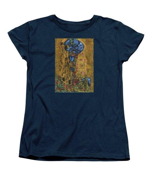 Women's T-Shirt (Standard Cut) featuring the painting The Alien Kiss By Blastoff Klimt by Similar Alien