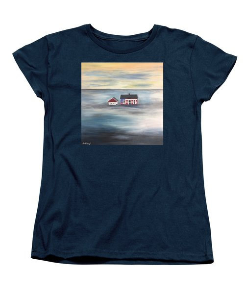 The American Dream And Climate Change Women's T-Shirt (Standard Cut) by Barbara Anna Knauf