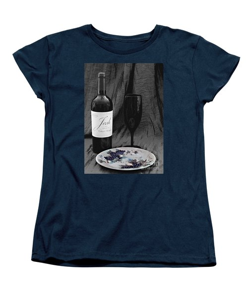 The Art Of Wine And Grapes Women's T-Shirt (Standard Cut) by Sherry Hallemeier