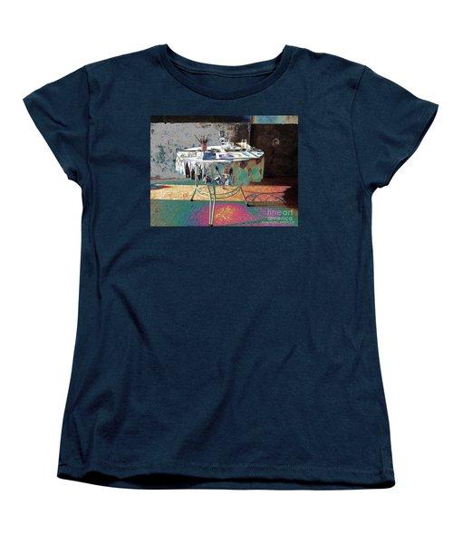 The Artists Table Women's T-Shirt (Standard Cut) by Don Pedro De Gracia