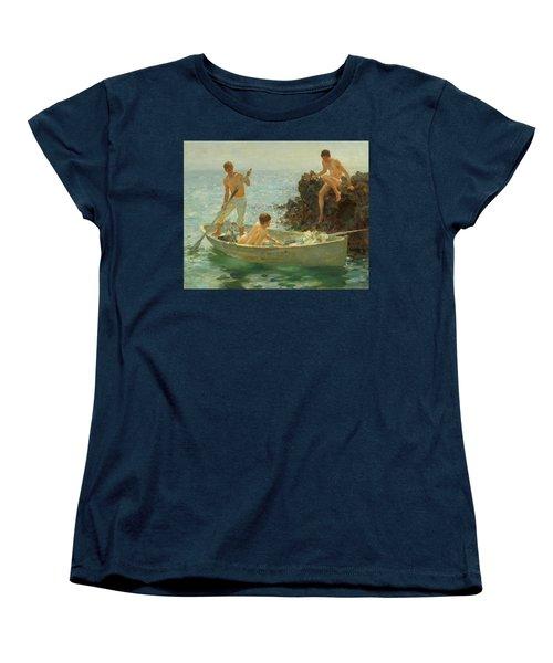 The Bathing Cove Women's T-Shirt (Standard Cut) by Henry Scott Tuke