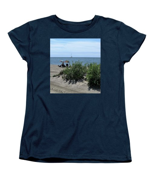 The Beach Women's T-Shirt (Standard Cut) by John Scates