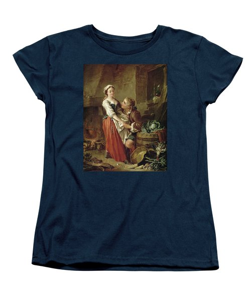 The Beautiful Kitchen Maid Women's T-Shirt (Standard Cut) by Francois Boucher