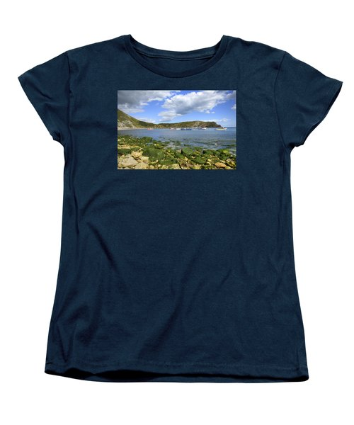 Women's T-Shirt (Standard Cut) featuring the photograph The Beauty Of Lulworth Cove by Ian Middleton