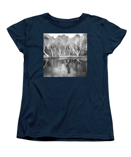 The Black And White Autumn Women's T-Shirt (Standard Cut) by Art Ina Pavelescu