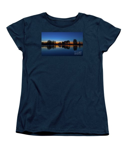 Women's T-Shirt (Standard Cut) featuring the photograph The Blue Hour.. by Nina Stavlund