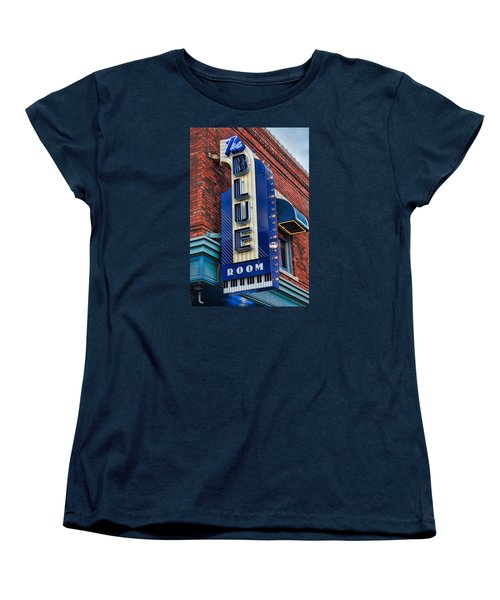 The Blue Room Sign Women's T-Shirt (Standard Cut) by Steven Bateson