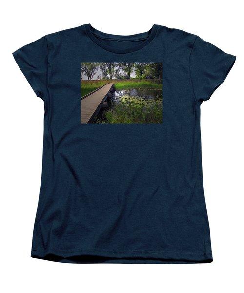The Boardwalk Women's T-Shirt (Standard Cut) by Cedric Hampton