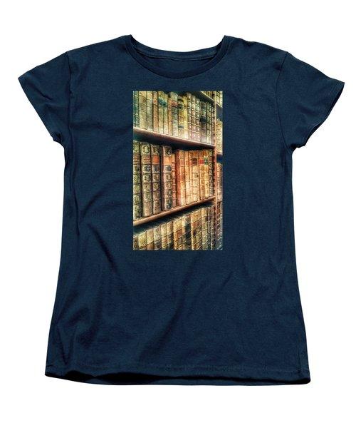 The Bookcase Women's T-Shirt (Standard Cut) by Isabella F Abbie Shores FRSA