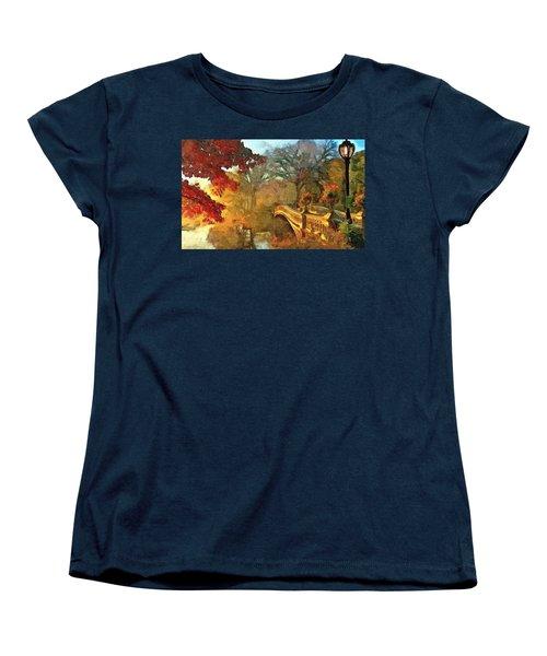 The Bow Bridge Nyc  Women's T-Shirt (Standard Cut) by Maciek Froncisz