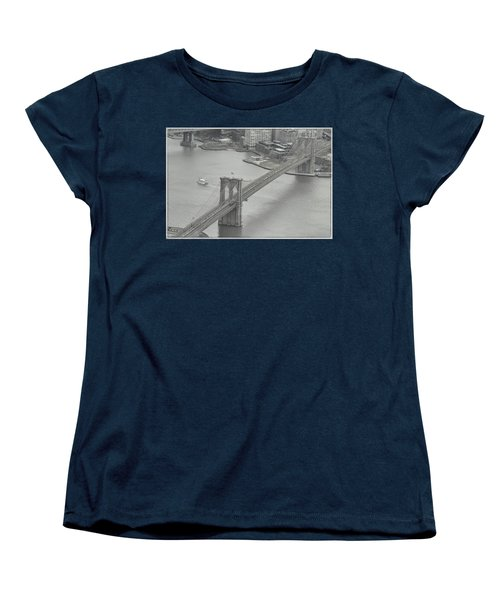 The Brooklyn Bridge From Above Women's T-Shirt (Standard Cut)