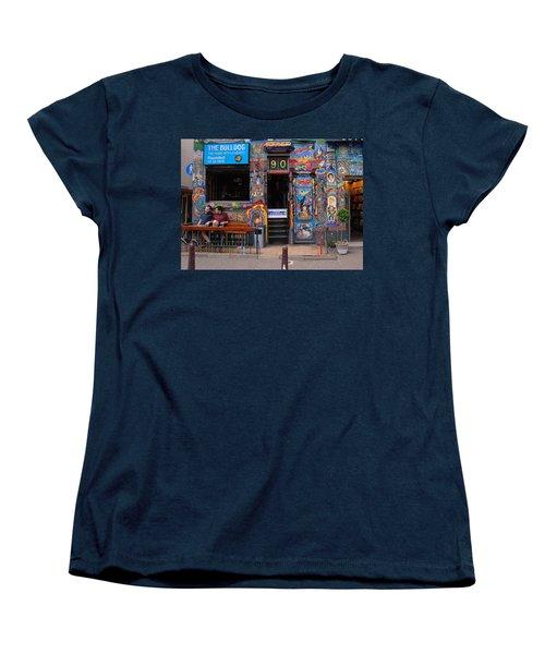 The Bulldog Of Amsterdam Women's T-Shirt (Standard Cut) by Allen Beatty