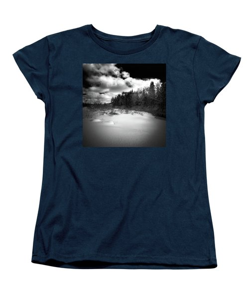 Women's T-Shirt (Standard Cut) featuring the photograph The Calm Of Winter by David Patterson