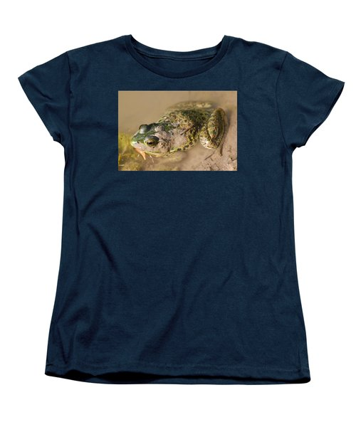 The Camouflage Frog Women's T-Shirt (Standard Cut) by Lisa DiFruscio