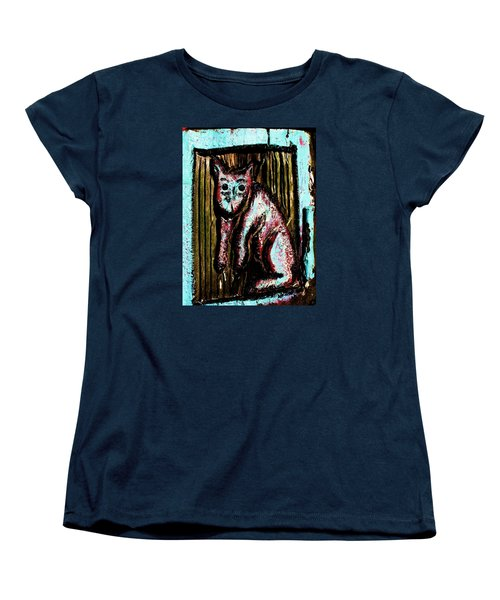 Women's T-Shirt (Standard Cut) featuring the photograph The Cat by John King