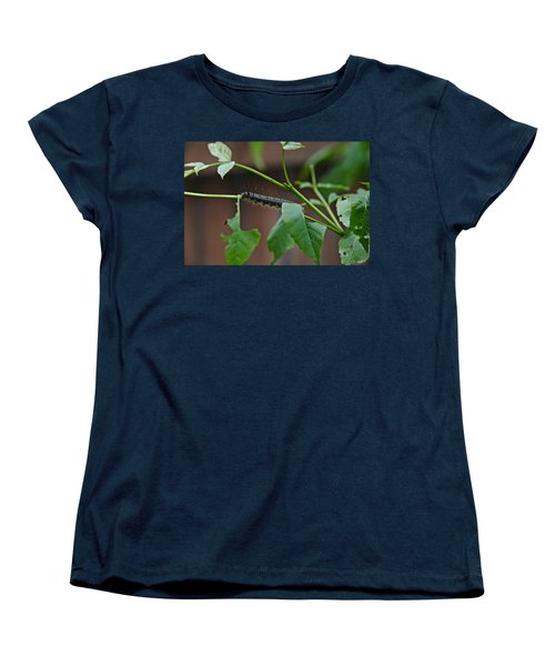 Women's T-Shirt (Standard Cut) featuring the photograph The Caterpillar 2 by Cendrine Marrouat